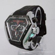Montre automatique à bracelet en silicone (HLSL-1014)