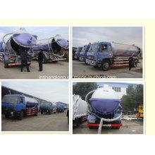 Dongfeng 10 Ton 10000L de sucção de esgoto a vácuo
