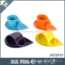 200CC 12pcs porcelain coffee cup and saucer with rock
