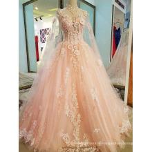 LS32997 Pink high neckline baby 1 year old party dress kaftans chiffon formal denim dress patterns lace
