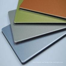 Mattfarbene Aluminium-Verbundplatten