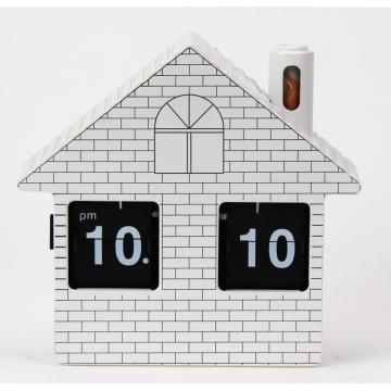 Small House Flip Clock Horloge de bureau
