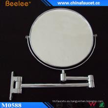 Espejo cosmético de baño de latón cromado de 8 ′ ′ con lupa 3X