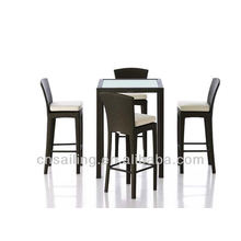 Popular Outdoor All Weather bar high table and chair
