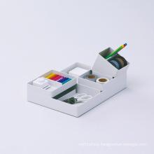 White Acrylic Storage Units, Lucite Stationery Organizer