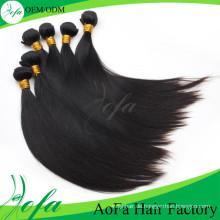 Top-Qualität Unverarbeitete gerade reines Haar Remy Menschenhaarverlängerung