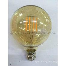 5W G95 COB or couleur LED ampoule à filament