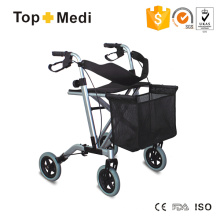 High End Foldable Aluminum Rollater with Hand Break