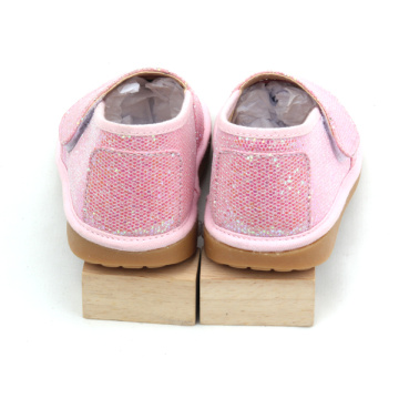 Los niños Fancy Pink Colours Toddler Glitter Squeaky Shoes
