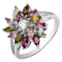 Мода серебряные Турмалин ювелирные изделия кольца (GR0028)