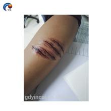 Autocollants de tatouage faux réalistes faits sur commande de conception 3d de blessure avec le prix bas