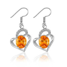 Classic Fashion Lady Love Silver Earrings Wedding Party