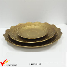 Set of 3 Chipboard Round Serving Plates