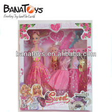 Beautiful fashion doll with dress and accessories