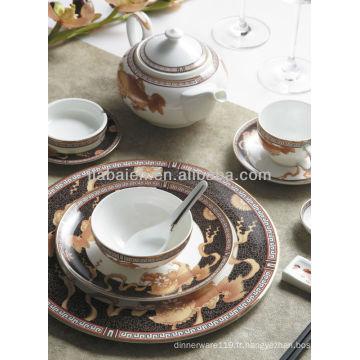 A026 2014 nouveau design assortiment élégant de porcelaine fine pour hôtel