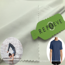 Recycled polyester spandex rpet Repreve lycra t shirt sportswear leggings fabric made from recycled plastic bottle materials