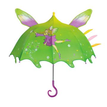 Parapluie manuel pour enfants à dessin en forme de genius de forme manuelle (BD-76)