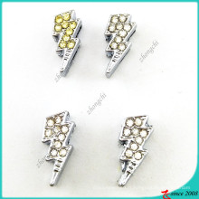 Breloques de glissière de foudre de strass pour le bracelet de bricolage (SC16041905)