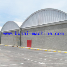 Bohai 1000-680 Construcción de techo en arco en máquina de pared