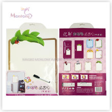 Promotional Gift 33*48cm Wall/ Icebox Memo Pad Sticker with Marker