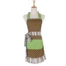 As mulheres da forma do algodão de 100% imprimem o avental do babador da cozinha