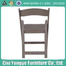 Grey Padded Resin Folding Chair for Weddings