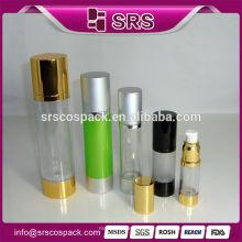 China Fabricação Cosmetic Packaging AS Garrafa com tampão de alumínio, Airless Pump Skincare Container e 50ml garrafa de óleo essencial
