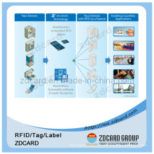 Injection RFID 4k, 13.56MHz, étiquette RFID et étiquette