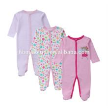 2017 baby girls newborn baby girl set 100% cotton winter long sleeve romper gift set for 3months baby girls