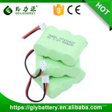 Prix de gros Usine Prix 2/3 AA 600 mah 3.6v ni-mh batterie pack batterie de téléphone portable
