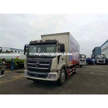 Diesel 6 wheeler hydraulic enclosed stage truck