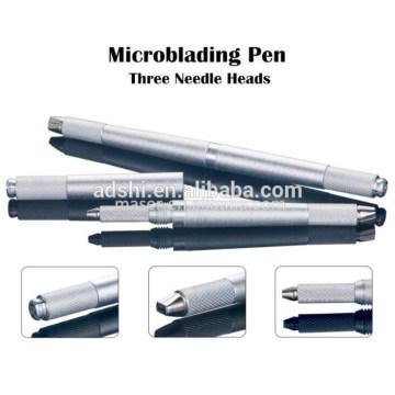 Neue Generation drei Köpfe Manuelle Augenbraue Tattoo Microblading Pen, 3 PINS Manuelle Augenbraue Permanent Make-up Tattooing Stift