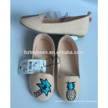 2016 детей балерина девочек холст обувь плоские мягкие единственной школьной обуви