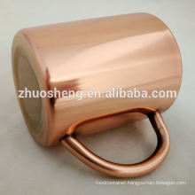 High quality manufacture moscow mule copper plated mug