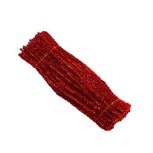 Wholesale 30cm*6mm colorful diy Glitter Fuzzy Sticks/tinsel pipe cleaner for art