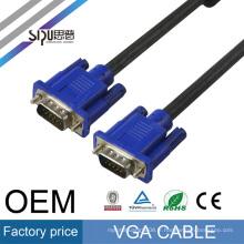 SIPU pas cher prix 1 m mâle à mâle vga câble pour tv ordinateur moniteur vidéo connexion