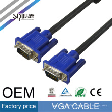 SIPU cheap price 1m male to male vga cable for tv computer monitor video connection