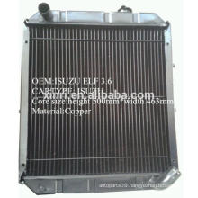 China manufacturer supply brass/copper radiator for ISUZU NPR ELF truck radiator
