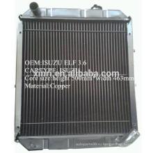 Китай производитель поставка латунный / медный радиатор для ISUZU NPR ELF автомобильный радиатор