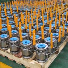 2pcs corps en acier forgé robinet à tournant sphérique flottant