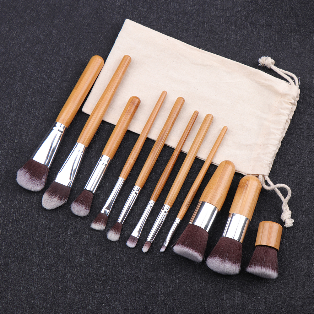 11pcs Bamboo makeup Brush