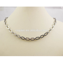 Moda 316L acero inoxidable cadena de acoplamiento collar y conjunto de joyas pulsera