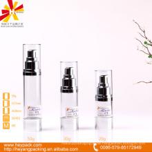 20/30 / 50ml Luxus ABS wesentliche Creme transparente luftlose Flasche