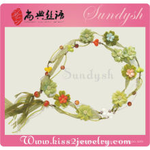 Woven Widen imitation fleurs florales à la main fleur ceintures