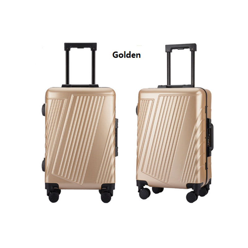 Golden pc luggage