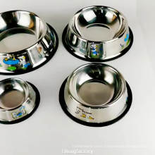 stainless steel no spill puppy food water feeder bowl for dog