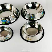 aço inoxidável nenhuma bacia do alimentador da água do alimento do filhote de cachorro do derramamento para o cão