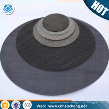 Plastic extruder filter 80 mesh carbon steel black wire mesh