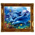 2015 Sea Animals 3D Lenticular Picture with Frame
