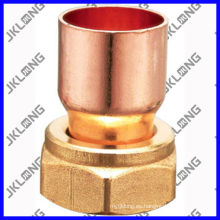 J9201 Acoplamiento de cobre con tuerca de latón